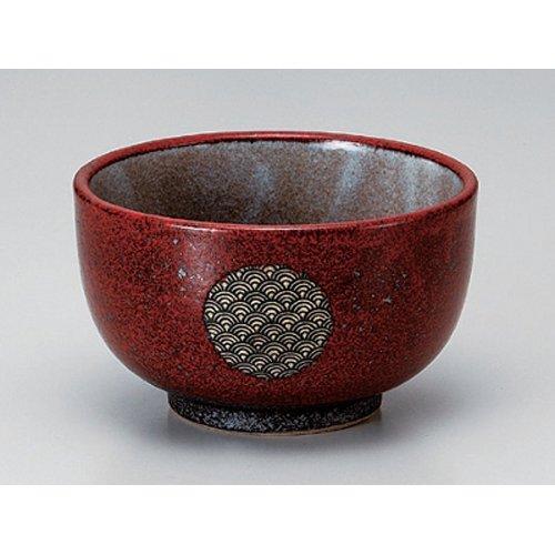 Ramen Soba Udon Noodle Bowl utw382-8-564 63 x 38 inch Japanece ceramic Red glaze sea wave KoshiCho 50 bowl tableware