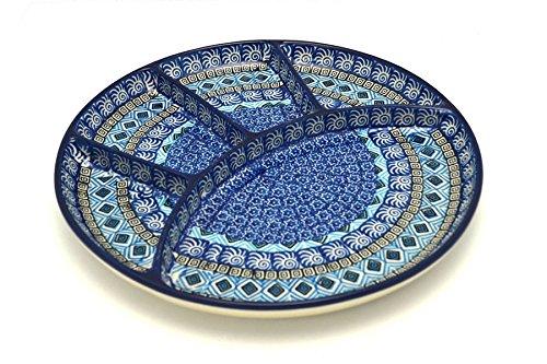 Polish Pottery Dish - Divided Appetizer - Aztec Sky
