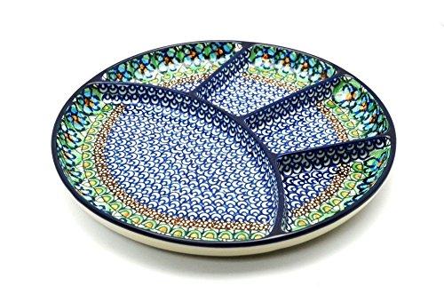 Polish Pottery Dish - Divided Appetizer - Unikat Signature - U151