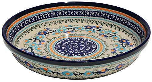 Polish Pottery Dish Pie Plate 10 From Zaklady Ceramiczne Boleslawiec 879-du157 Unikat Pattern Height 18 Diameter 10