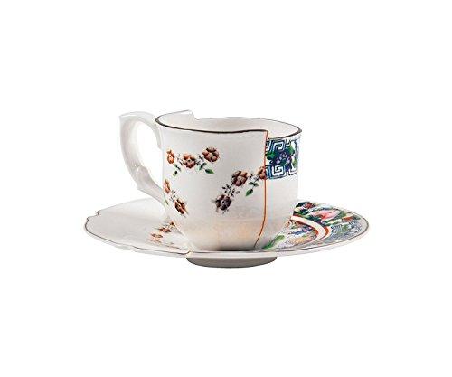 Seletti Fine Bone China Coffee Cup with Saucer Tamara