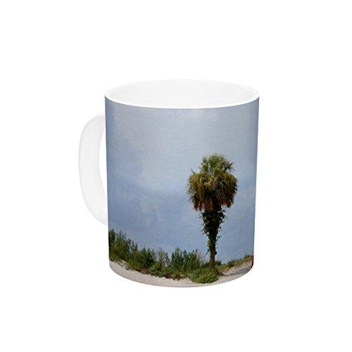 KESS InHouse Angie Turner Keep Off Red Blue Ceramic Coffee Mug 11 oz Multicolor
