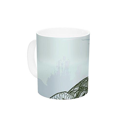 KESS InHouse Sam Posnick Sea Turtles Green Blue Ceramic Coffee Mug 11 oz Multicolor
