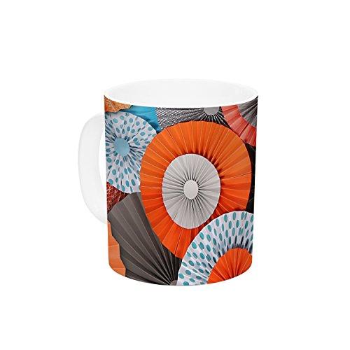 Kess InHouse Heidi Jennings Breaking Free Orange Blue Ceramic Coffee Mug 11 oz Multicolor