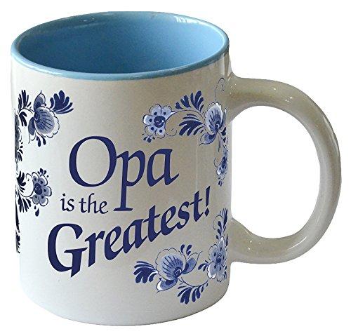 Opa is the GreastestBlue Ceramic Coffee Mug