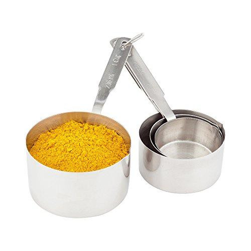Restaurantware 1 Count box Met Lux Measuring Cup Set Heavy Duty Medium Stainless Steel