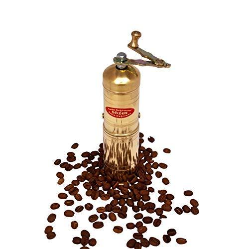 7 Handmade Manual Brass Coffee Mill Grinder Sozen Portable Conical Burr Coffee Mill Portable Hand Crank Coffee Grinder Turkish Coffee Grinder