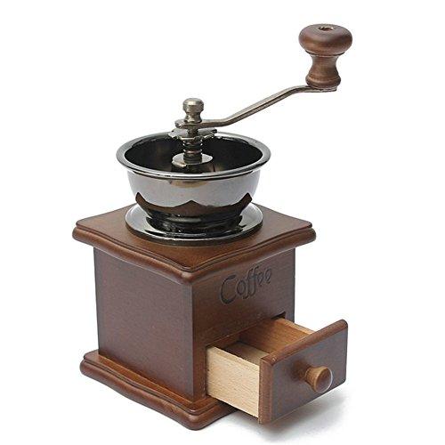 OMIU Coffee Grinder Machine Moledor Grinding Machine Coffee Mill Manual Molinillo De Cafe Antique Hand Coffee Bean Grinde Brown