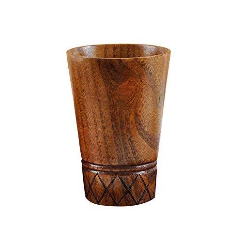 Dartphew Solid Jujube Mug Wooden Coffee Beer Mugs Wood Cup Handmade Tea Cup New Wooden Cup Log Color Handmade Natural Wood Coffee Tea Beer Juice Milk Mug - 113cm x 77cm