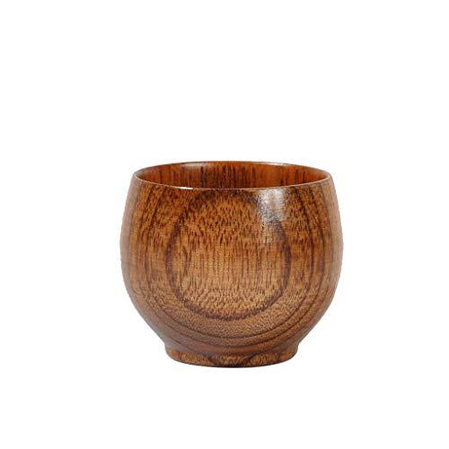 DaySiswong Wooden Tea Cups Top Grade Natural Solid Wood Tea Cup Wooden Cup Wood Tea Water Mug Primitive Handmade