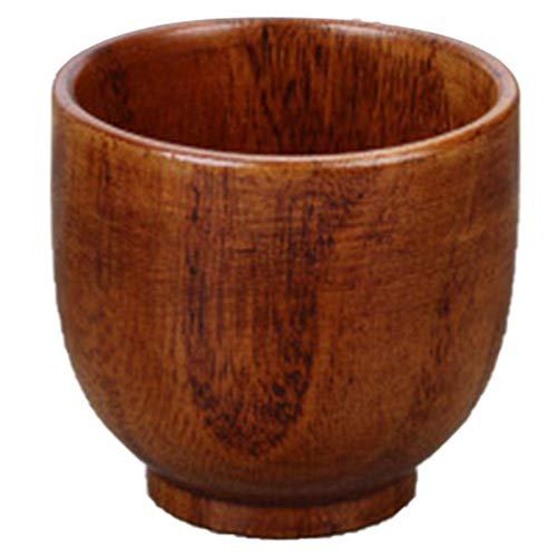 Qifumaer Wooden Tea Cups Top Grade Natural Solid Wood Tea CupWooden Teacups Coffee Mug Wine Mug for drinking Tea Coffee Wine Beer Hot Drinks6105CM