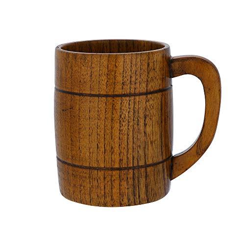 TheRang 1X Wooden Tea Cups Jujube Wood Mug Handmade Barrel Juice Beer Cup Durable Travel