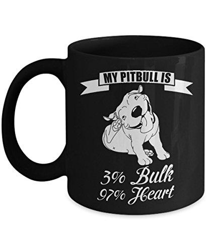 Dog Mugs Funny Dog Lover Coffee Mug - My Pitbull - Perfect Gift For Dog Lovers Mom Dad Fathers Day or Grandpa Ceramic Coffee Mug 11oz