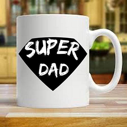 Black And White Super Dad Coffee Mug Super Dad Coffee Mug Super Dad Cup Father39s