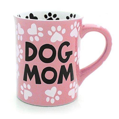 Our Name is Mud Dog Mom Stoneware Mug Pink