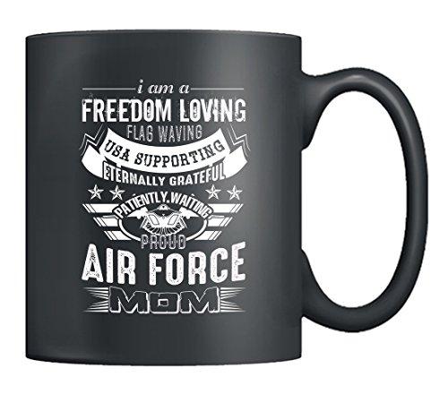 Air Force Mom Coffee Mug - Proud Air Force Mom Mugs Tea Cup Black 11Oz Best Gifts Black