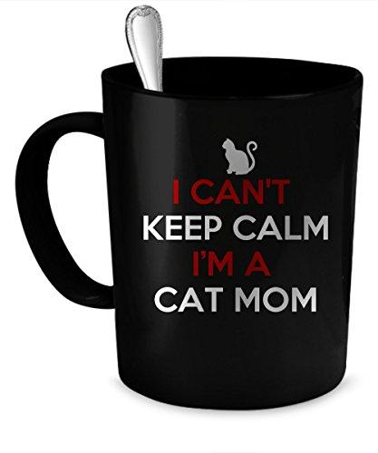 Cat Mom Coffee Mug Cat Mom gift 11 oz black