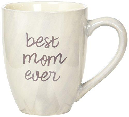 Mom Life 85200 Best Mom Ever Tan and Purple Large 20 oz Ceramic Coffee Mug Tea Cup Beige