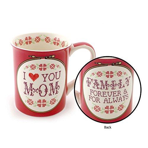 "Our Name is Mud ""Cross Stitch Mom"" Stoneware Coffee Mug 16 oz"