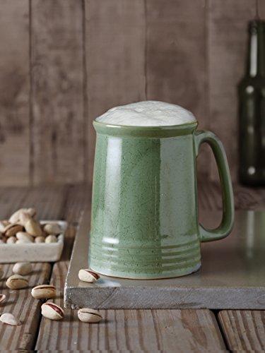 Christmas Gifts Polish Pottery Mug Handmade Ceramic Beer Mug Tea Coffee Milk Mug Studio Pottery Cup Handcrafted Home Kitchen Serveware Green