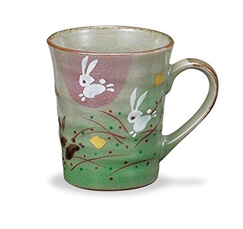 Kutani Pottery Mug cup 2 Rabbits AP3-0803 from Japan