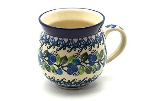 Polish Pottery Mug - 11 oz Bubble - Blue Berries