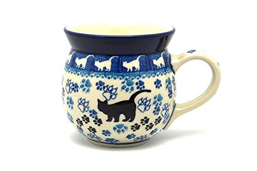 Polish Pottery Mug - 15 oz Bubble - Boo Boo Kitty