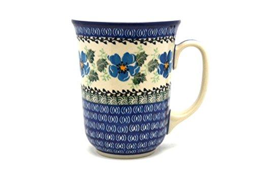 Polish Pottery Mug - 16 oz Bistro - Morning Glory