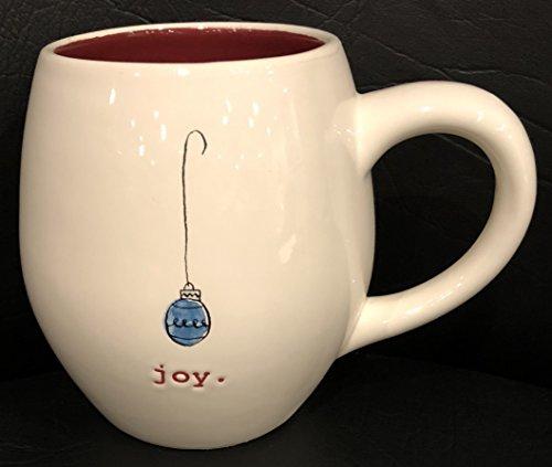 Rae Dunn Artisan Collection By Magenta Christmas Pottery Mug 3 Diameter X 5 Deep JOYORNAMENT-Red Inside Dishwasher Safe