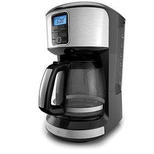 BLACKDECKER 12-Cup Programmable Coffeemaker Stainless Steel CM4100S