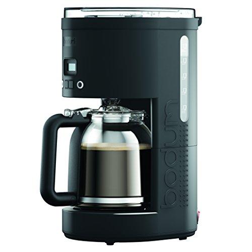 Bodum 11754-01CA Bistro Maker Programmable Coffee Machine with Borosilicate Glass Carafe 12 Cup 51 oz Black