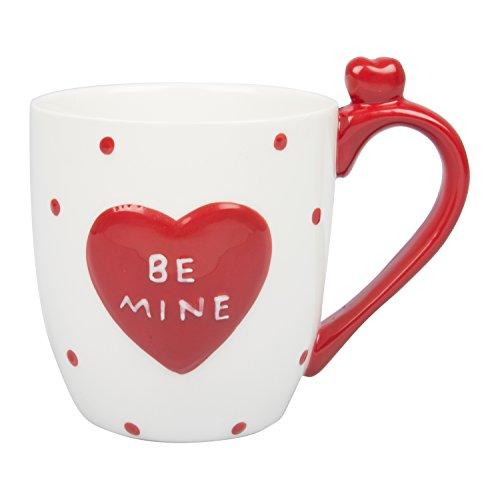 Mug with Surprise Heart Inside - White 16 oz Be Mine Mug