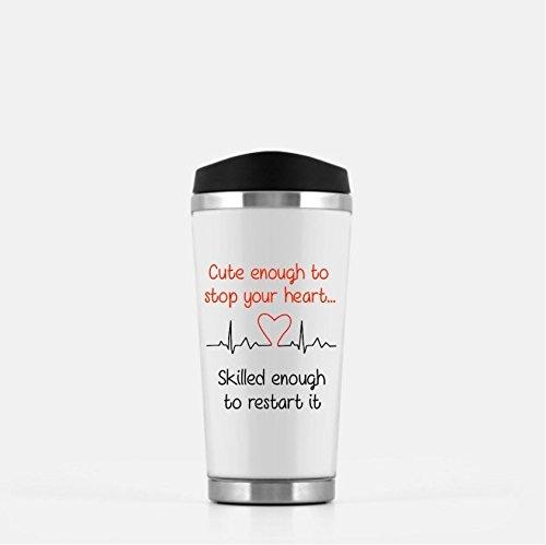 Nurselife Gift For A Nurse - Hipster Girl Top Knot Nurse Cute Enough Mug Stop Your Heart Mug Restart It Mug Top Knot Coffee