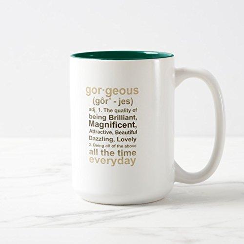 Zazzle Gorgeous Gold Coffee Mug Hunter Green Two-Tone Mug 15 oz