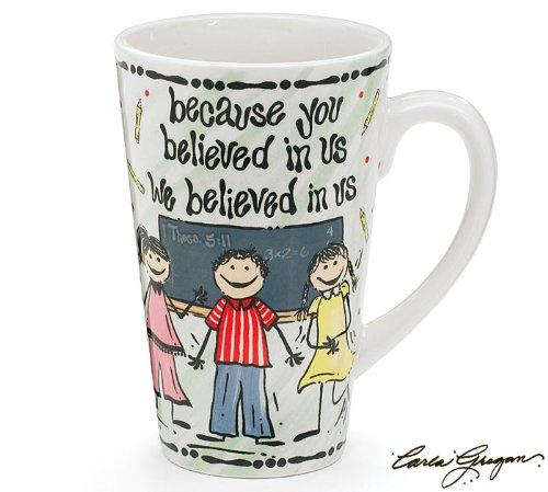Because You Believe Whimsical Teacher Mug Designed by Carla Grogan Great Gift Item