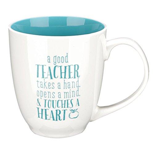 Blue Blessings to the Teacher Touches a Heart Mug - 1 Corinthians 1614