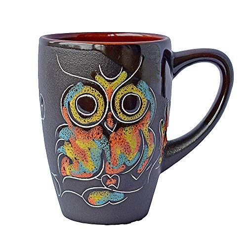 Pottery Coffee Mug Gift Idea «Owl» 133 oz