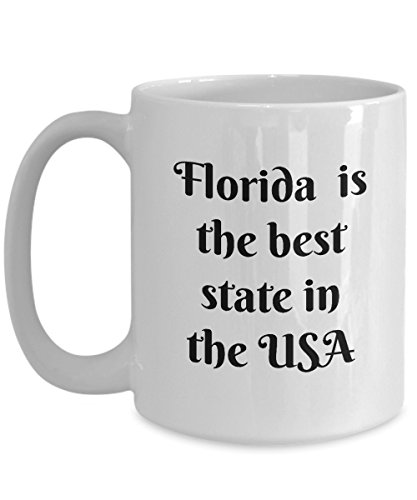 Florida Coffee Mug - Novelty Coffee Gift White Cup 11oz  15oz