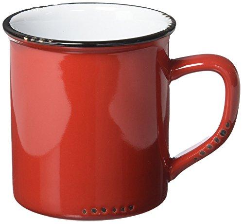 Abbott Collection Enamel Look Stoneware Mug Red - 27-EnamelMug RED