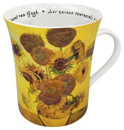 Konitz 12-Ounce Les Fleurs Chez Les Peintres Van Gogh Mugs Set of 4