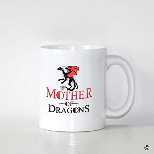 MsMr Custom White Mug 11oz - Personalized Mug Design - Mother Of Dragons CoffeeTea Mug