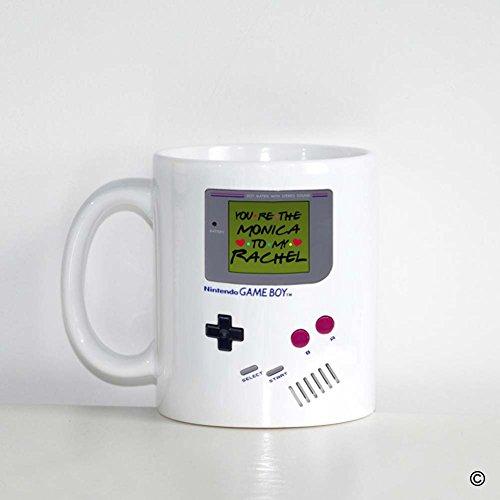 MsMr Custom White Mug 11oz - Personalized Mug Design - Nintendo Gameboy Youre The Monica To My Rachel CoffeeTea Mug