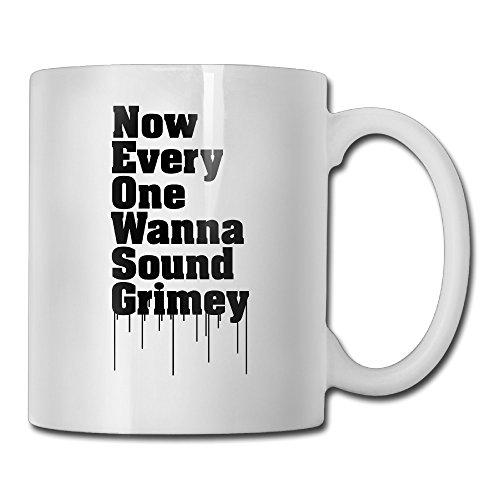 Sound Grimey White Mug Personalized Mug Design Ceramic CoffeeTeaMilk Mug