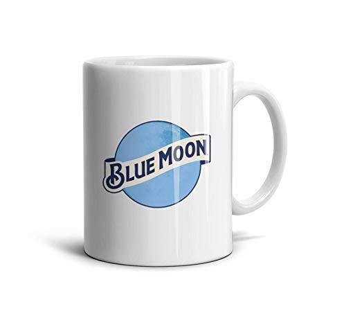 zoyozoyu Blue Moon Beer Logo Travel Mugs Design White Ceramic Friends Birthday Cups 11 Oz