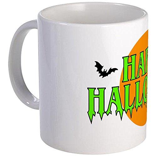 CafePress - Happy Halloween With Bats Mug - Unique Coffee Mug Coffee Cup