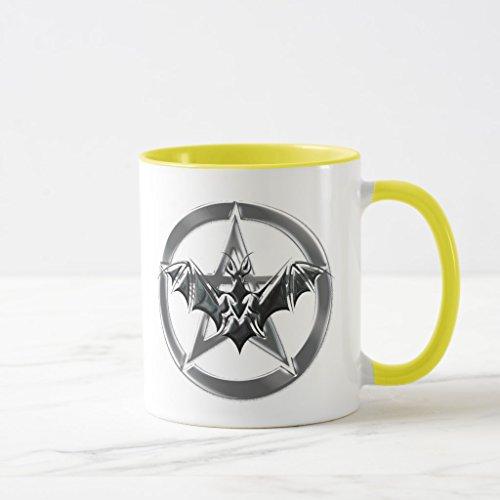 Zazzle Pentacle Bat Mug Yellow Combo Mug 11 oz