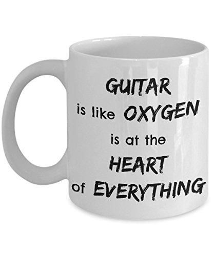 Guitar Coffee Mugs Oxygen Heart