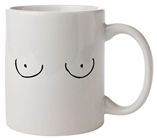 Angry EyesCartoon Boobs Mug coffee and tea mug
