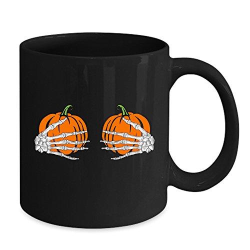 Halloween Funny Pumpkin Boobs Mug - Happy Halloween Mug