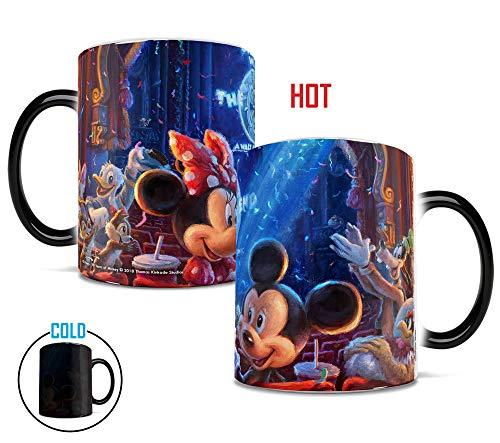 Disney - 90 Years of Mickey Anniversary - Thomas Kinkade - Color changing coffee tea cocoa mug - MorphingMugs Heat-Sensitive Mugs